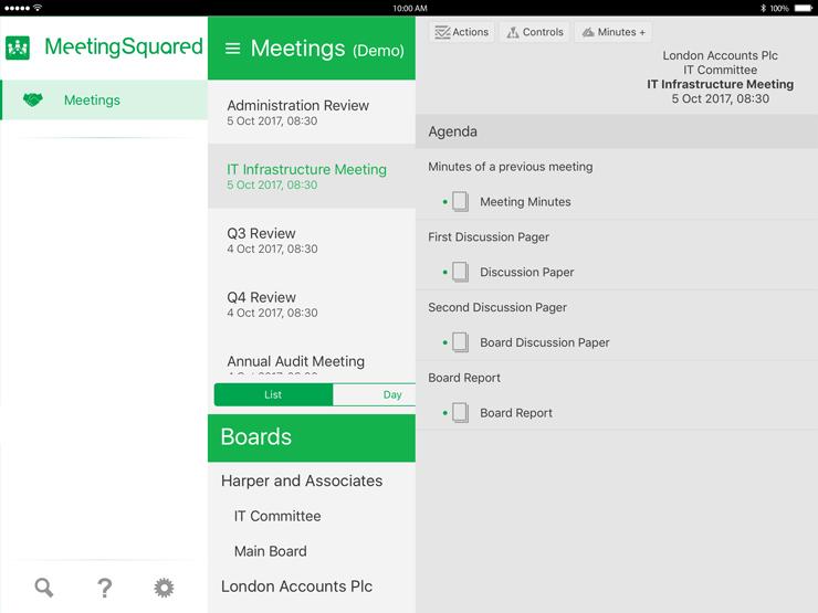 agenda ipad app