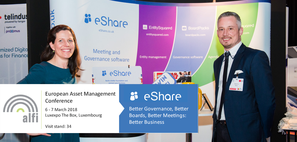 eShare at the ALFI Asset Management Conference 2018